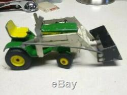 Vintage Rare John Deere Model 140 Garden Lawn Tractor With Loader Toy