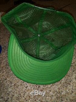Vtg John Deere Tractors Full Mesh Louisville Snapback Trucker Cap Hat USA