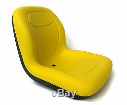 Yellow HIGH BACK SEAT for John Deere Compact Garden Tractors 4610, 4700, & 4710