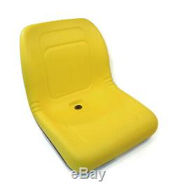 Yellow HIGH BACK SEAT for John Deere Compact Garden Tractors 4610, 4700, 4710