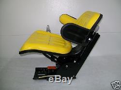 Yellow John Deere 2530 2550 2555 2630 2640 Universal Tractor Suspension Seat #ao