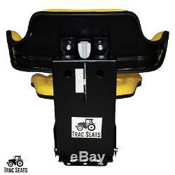 Yellow John Deere 5200 5210 5300 5310 Waffle Style Tractor Suspension Seat