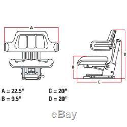 Yellow Wrap Back Tractor Suspension Seat John Deere 1020, 1530, 2020, 2030 #we